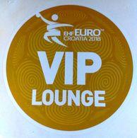 HANDBALL / MEN'S EHF EURO CROATIA 2018 / Main Official Sticker / VIP LOUNGE - Handball