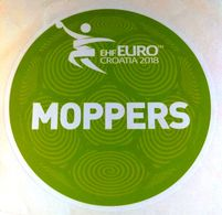HANDBALL / MEN'S EHF EURO CROATIA 2018 / Main Official Sticker / MOPPERS - Balonmano