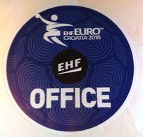 HANDBALL / MEN'S EHF EURO CROATIA 2018 / Main Official Sticker / EHF OFFICE - Handball