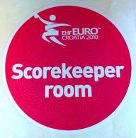 HANDBALL / MEN'S EHF EURO CROATIA 2018 / Main Official Sticker / SCOREKEEPER ROOM - Handball