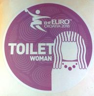 HANDBALL / MEN'S EHF EURO CROATIA 2018 / Main Official Sticker / TOILET WOMAN - Handball