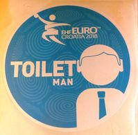 HANDBALL / MEN'S EHF EURO CROATIA 2018 / Main Official Sticker / TOILET MAN - Balonmano