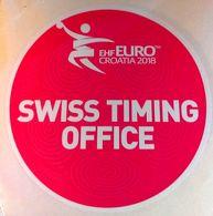 HANDBALL / MEN'S EHF EURO CROATIA 2018 / Main Official Sticker / SWISS TIMING OFFICE - Handball