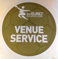 HANDBALL / MEN'S EHF EURO CROATIA 2018 / Main Official Sticker / VENUE SERVICE - Handball