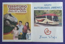 BILLETE ZARAGOZA - VALENCIA. BUS - AUTOBUS - DINÓPOLIS. USADO - USED. - Bus