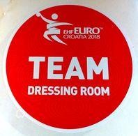 HANDBALL / MEN'S EHF EURO CROATIA 2018 / Main Official Sticker / TEAM DRESSING ROOM - Handball