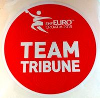 HANDBALL / MEN'S EHF EURO CROATIA 2018 / Main Official Sticker / TEAM TRIBUNE - Handball