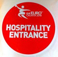 HANDBALL / MEN'S EHF EURO CROATIA 2018 / Main Official Sticker / HOSPITALITY ENTRANCE - Handball