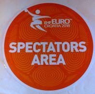 HANDBALL / MEN'S EHF EURO CROATIA 2018 / Main Official Sticker / SPECTATORS AREA - Balonmano