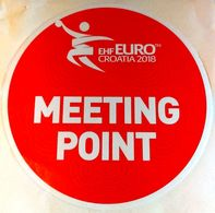 HANDBALL / MEN'S EHF EURO CROATIA 2018 / Main Official Sticker / MEETING POINT - Handball