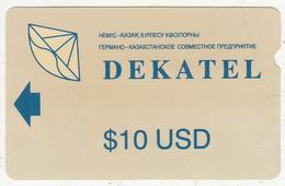 KAZAKHSTAN(Alcatel) - Dekatel Telecard, First Issue $10, Used - Kazakhstan