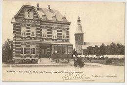 1 - Perwez - Résidence De M. Le Juge Waerseggers Et L' Eglise Saint-Martin - Perwez