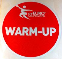 HANDBALL / MEN'S EHF EURO CROATIA 2018 / Main Official Sticker / WARM-UP - Handball