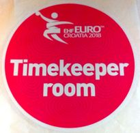 HANDBALL / MEN'S EHF EURO CROATIA 2018 / Main Official Sticker / TIMEKEEPER ROOM - Handball