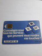 Télécarte ,connaissez-vous Tous Les Services Que Peuvent Vous Rendre Ces Touches ? 50 Unités , 1991 - Téléphones