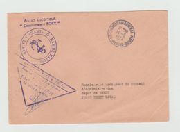 "Cachet MARINE NATIONALE -   Aviso Escorteur "" Commandant  BORY"" + Cachet Cherbourg Arsenal Marine  1972 - Marcophilie (Lettres)"