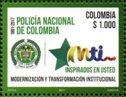 Colombia 2017 ** 125 AÑOS DE LA  POLICIA NACIONAL. See - Colombie