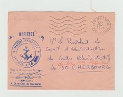 """Cachet MARINE NATIONALE - Escorteur D'Escadre """" SURCOUF """" + Cachet Brest Naval  1970 - Postmark Collection (Covers)"""