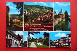 Büdingen -  Die Mittelalterliche Stadt - Rhein-Main-Gebiet - AK 1995 Gelaufen - Wetterau - Kreis