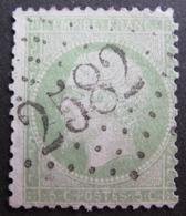 Lot FD/621 - NAPOLEON III N°20e Vert Clair - GC 2582 MUR-DE-SOLOGNE (Loir Et Cher) ☛ INDICE 14 - 1862 Napoleon III