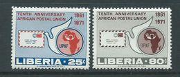 Liberia 1971 African Postal Union Set 2 MNH - Post