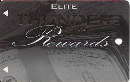 Thunder Valley Casino Lincoln CA - Elite Thunder Club Rewards @2009 BLANK Slot Card - Casino Cards