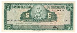 Nicaragua 5 Cordobas 1968, AUNC/UNC. - Nicaragua