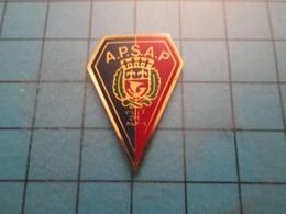 Pin512a Pin's Pins / Beau Et Rare :  SAPEURS POMPIERS  PARIS ASSOCIATION APSAP BLASON ECUSSON ARMOIRIE Marquage Au Dos : - Firemen