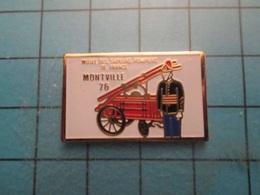 Pin512a Pin's Pins / Beau Et Rare :  SAPEURS POMPIERS MUSEE DE MONTVILLE 76  Marquage Au Dos : - --- - - Firemen