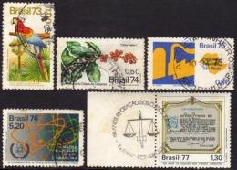 Ref. BR-U1973-77 BRAZIL 1973 ., 1974,1975,1976 1977 USED 5V - Brazil