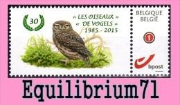 DUOSTAMP** / MYSTAMP** - BUZIN - Chouette Chevêche - 1985/2015 - Private Stamps