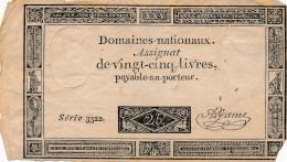 H35 - FRANCE - ASSIGNAT DE 25 LIVRES Payable Au Porteur - Assegnati