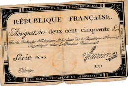 H35 - FRANCE - ASSIGNAT DE 250 LIVRES - Hypothéqué Sur Les Domaines Nationaux - Assegnati