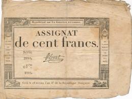 H35 - FRANCE - ASSIGNAT DE 100 FRANCS - Hypothéqué Sur Les Domaines Nationaux - Assegnati