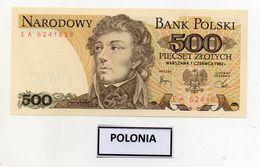 Polonia - 1982 - Banconota Da 500 Sloty - Nuova -  (FDC8078) - Polonia