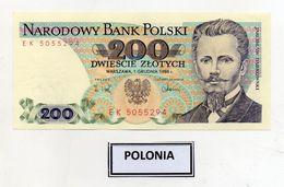 Polonia - 1988 - Banconota Da 200 Sloty - Nuova -  (FDC8079) - Polonia