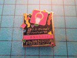 Pin610d Pin's Pins : BEAU ET RARE :  US OLYMPIC FESTIVAL 1990 GYMNASTIQUE ANNEAUX , Marquage Au Dos : - --- - - Gymnastics