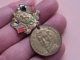 Souvenir De La Fête - Albert 1er Roi Des Belges ( 4,0 Gr. Hanger - Details, Zie Foto ) - Belgium