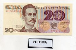 Polonia - 1982 - Banconota Da 20 Sloty - Nuova -  (FDC8081) - Polonia