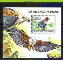 Nep033 FAUNA ROOFVOGELS BIRDS OF PREY BATELEUR GREIFVÖGEL RAUBVÖGEL AVES OISEAUX BURUNDI 2013 PF/MNH - Arends & Roofvogels