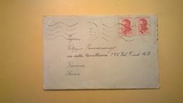 BUSTA 1960 CECOSLOVACCHIA PRAGA-ROMA ANCORA DA APRIRE BOLLO ANTONIN NOTOTNY - Cecoslovacchia