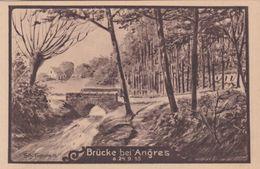 Alte Ansichtskarte Aus Angres -Brücke Bei Angres- - France
