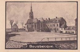 Alte Ansichtskarte Aus Bousbecque -Kirchplatz- - France