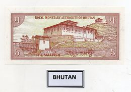 Bhutan - Banconota Da 5 Ngultrum - Nuova -  (FDC8085) - Bhutan