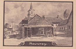 Alte Ansichtskarte Aus Rouvroy -Kirche Und Waschhaus?- - France