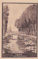 Alte Ansichtskarte Aus Lens -vom Kanal Aus- - Lens