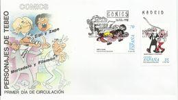 España. 1998. Comics. Personajes Del Tebeo. Mortadelo Y Filemón Y Zipi Y Zape; Conde De Aranda. - FDC