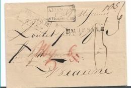 Sac031/  Dresen Haute Saxe 1821 Nach Beaune, Frankreich. Wfr. Handschriftlich. - Sachsen