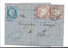 EL084 / ELSASS -  Kleines Brustschild, Senkrechtes Paar Auf Doppelfrankatur Ex Zabern 1872 - Deutschland