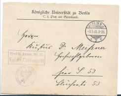 Ger459 / Dienstbrief Uni Berlin 1905 - Allemagne